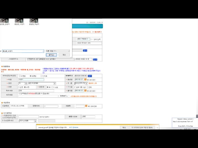 매크로_다양한 입력 매크로(input, select, radio, text)+한국주소 자동 기입