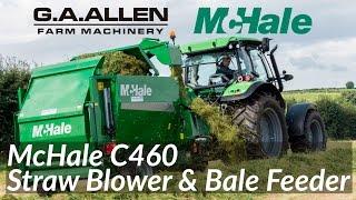 G A Allen McHale Demo Day 2016   McHale C460 Straw Blower & Bale Feeder   4K
