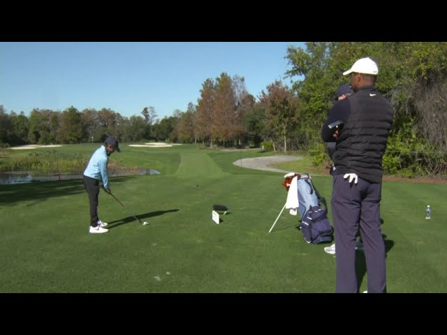 Tiger Woods plays another round with son Charlie ahead of PNC Championship