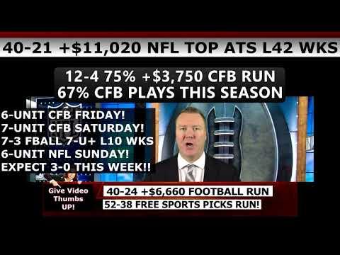 FREE NFL PICKS WEEK 10 – Expert NFL Predictions Against the Spread 11/12/17