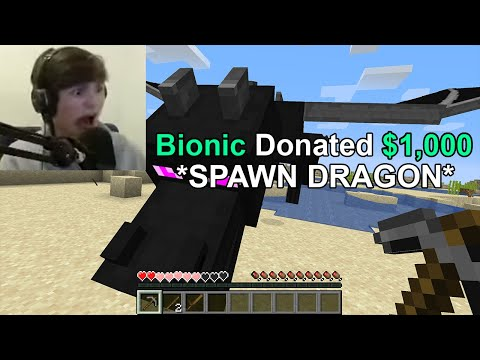 I Donated $1000 to troll this Streamer until he QUIT Minecraft...