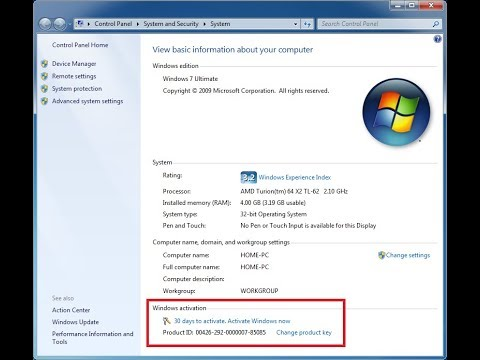 clé dactivation windows 7 edition integrale 32 bits crack