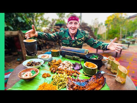 Pot-Bellied Pig Cooked TEN Ways!!! Myanmar's Unknown Mountain Food!!