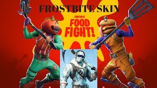 FORTNITE - FROSTBITE SKIN and FOOD FIGHT game mode played by TNTextreme