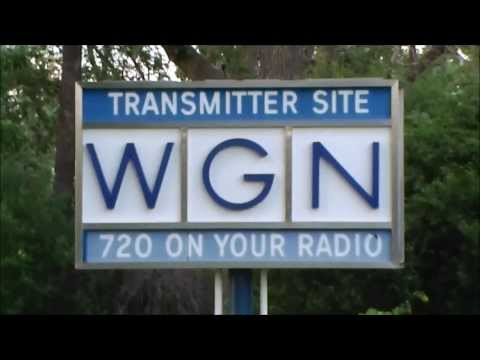 chicago radio station wgn am 720 transmitter site with mid century modern sign
