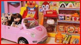 森林家族來麵包超人便利店購物的玩具故事