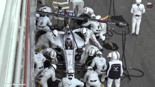 F1 2015 Pit Stops | Williams Martini Racing | Paddock View (4K)