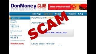 DonMoney.club Scam Alert!!