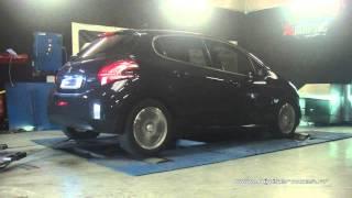 Peugeot 208 1.6 hdi 92cv Reprogrammation Moteur @ 116cv Digiservices Paris 77 Dyno