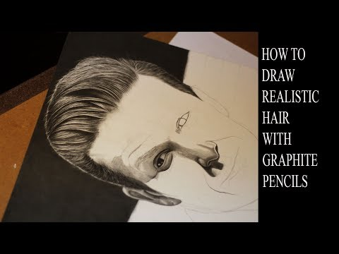 HOW TO DRAW REALISTIC HAIR WITH GRAPHITE PENCILS