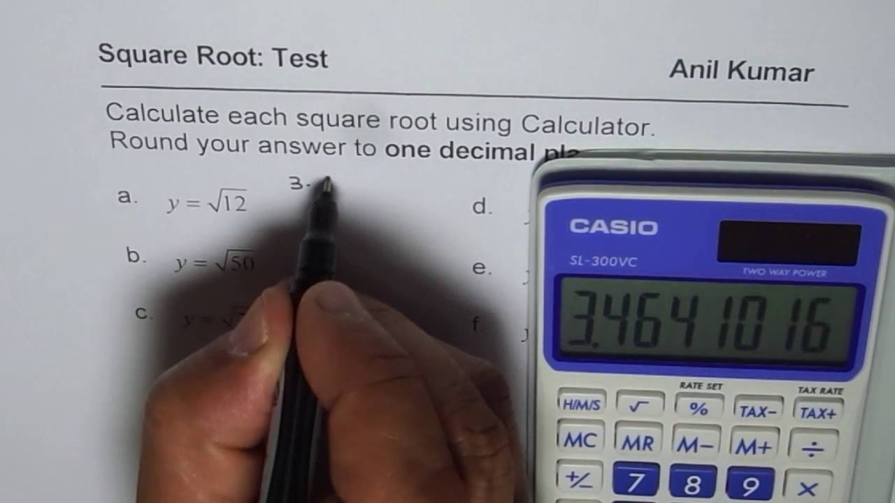 Calculate and Round Square Root to One Decimal Place - YouTube