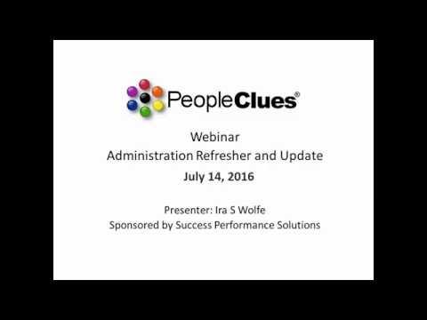 Webinar: PeopleClues Assessment Test Dashboard Refresher