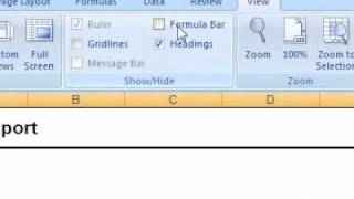 How to show or hide the formula bar in a workbook Excel