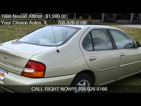 1998 nissan altima gxe for sale in posen il 60469 youtube. Black Bedroom Furniture Sets. Home Design Ideas