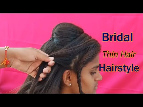 Bridal Functions Hairstyles || खुद से बनाए पार्टी हेयरस्टाइल्स || Wedding Twisted Side Puff