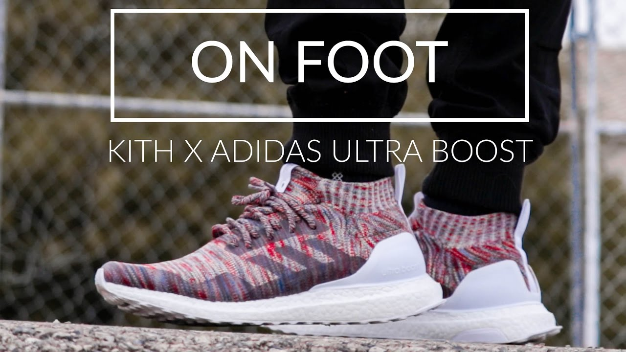 super popular e084f 9f4be KITH X ADIDAS ULTRA BOOST MID ON FOOT