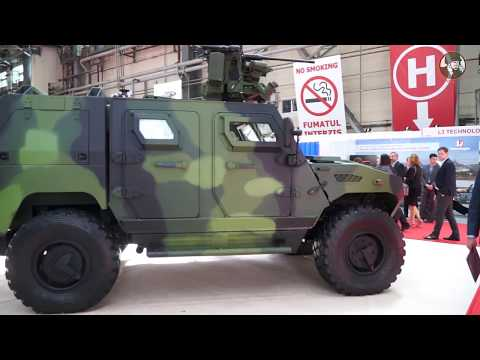 BSDA 2018 NIMR latest generation 4x4 armored vehicle Ajban 440A for European military market