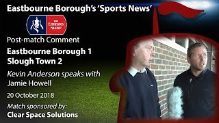 'Sports News': Eastbourne Borough 1 v 2 Slough Town – Jamie Howell's Post-Match Comments – FA Cup