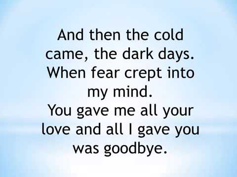 Back to December with lyrics(Taylor Swift)