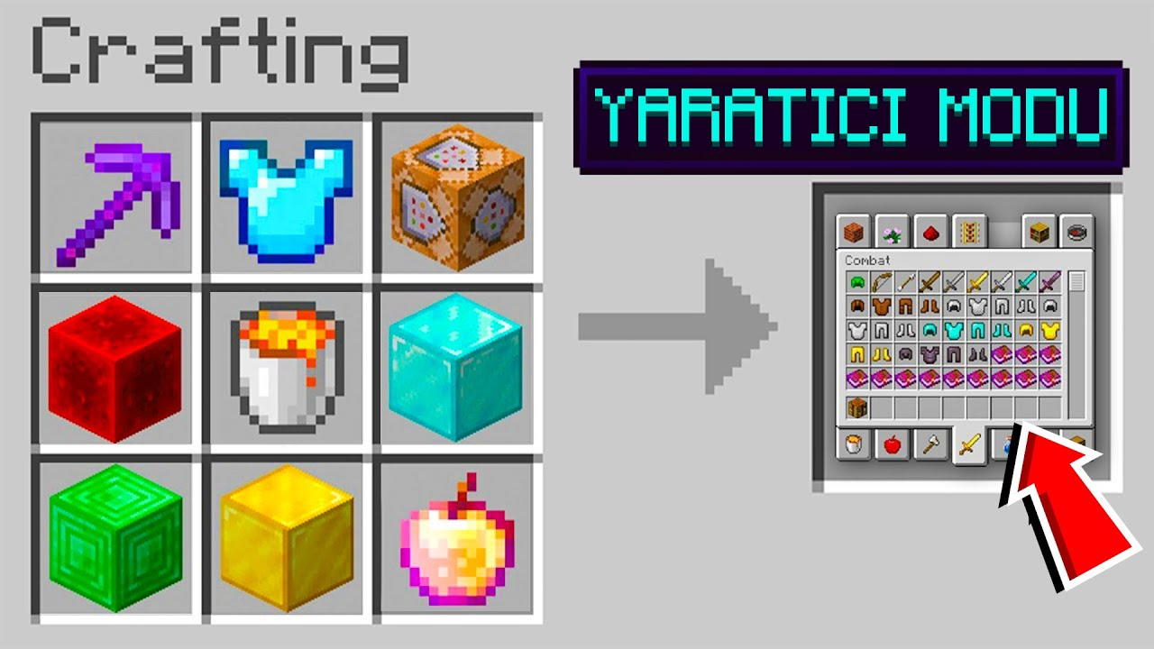 Minecraft'ta YARATICILIK MODU craftlıyoruz!