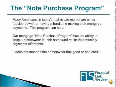 Mortgage Note Purchase  Principal Reduction Program  Youtube