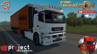 Euro Truck Simulator 2 (1.36)   Kamaz 5490_65206 Tonar Ownable Trailer DLC Beyond the Baltic Sea by SCS Software Project Next Gen Graphics v2.0 by DamianSVW + DLC's & Mods https://ets2.lt/en/kamaz-5490_65206/  Support me please thanks Support me economica