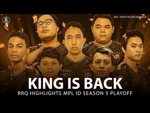 RRQ Hoshi Playoffs Highlights MPL Season 5 - GG RRQ Congratulations | Spin Esports
