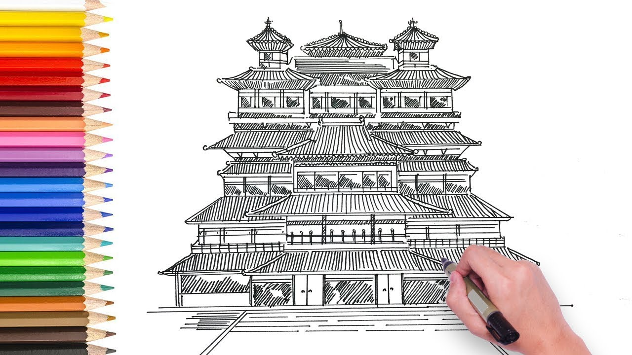 Learn How To Draw Chinese Temple Buddah Tooth Relic