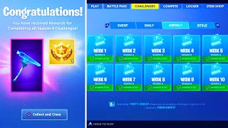 What happens when you COMPLETE ALL Week Challenges in Fortnite! (New Season 8 Rewards)