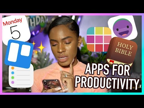 How To Be PRODUCTIVE Using Your PHONE! Apps For Journaling, Time Management, & Mental Health