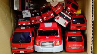 Fire Engine Car 消防車連続すぽすぽ Run into Box in a row