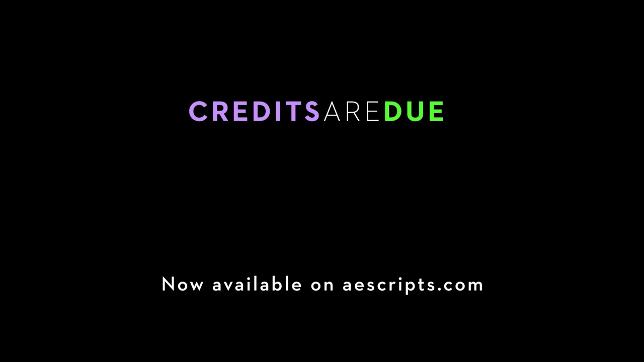 credits are due promo download free