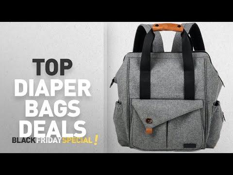 2362fae3f77dc Diaper Bags Black Friday Deals: HapTim Multi-function Baby Diaper Bag  Backpack W/ Stroller - YouTube