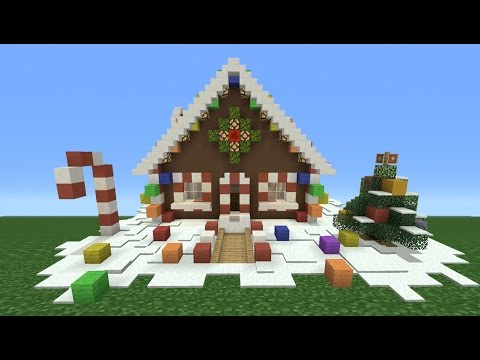 Minecraft tutorial how to make a ginger bread house youtube for How do you make a gingerbread house