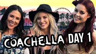 COACHELLA DAY 1! VIP Tour, Full Glam & Rainbow Hair
