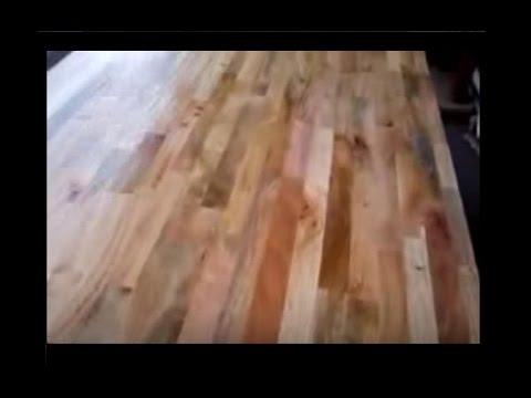 Refinishing wood table reclaim butcher block top to natural wooden colors removing old stain