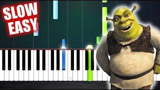 Shrek - Fairytale - SLOW EASY Piano Tutorial by PlutaX