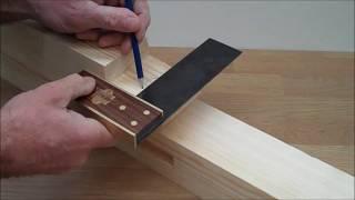 Draw bore tenon tutorial