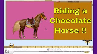 Riding a Chocolate Horse in the  Snow - Kids Free Online Games