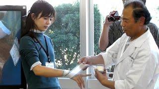 手と人差し指の包帯の巻き方 【東京有明医療大学】