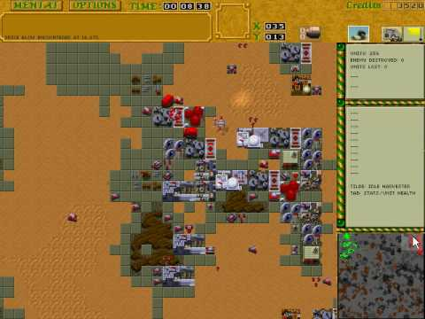 Dune 2 The Golden Path 1.70 Battle Report; Ordos vs Harkonnen p1