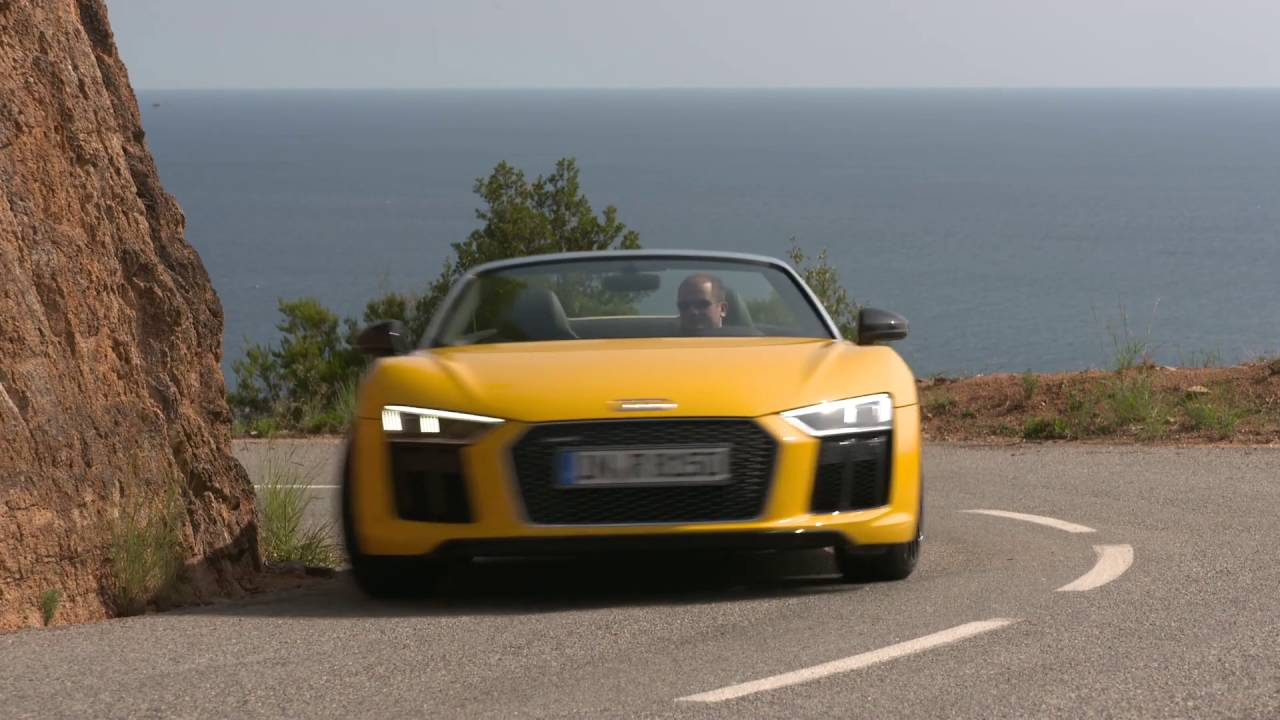 2017 Audi R8 Spyder Vegas Yellow Footage