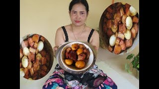 How To cooking Pig Pork With eggs a new recipe