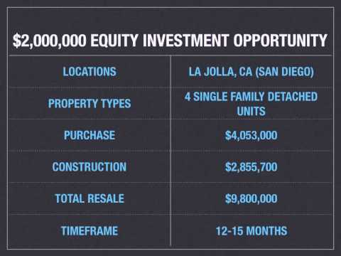 Copy of Equity Investment Opportunity: Residnetial Development | La Jolla, CA