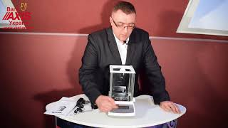 Ваги аналітичні ANZ160C AXIS (відео огляд), Весы аналитические ANZ160C AXIS (видео обзор)