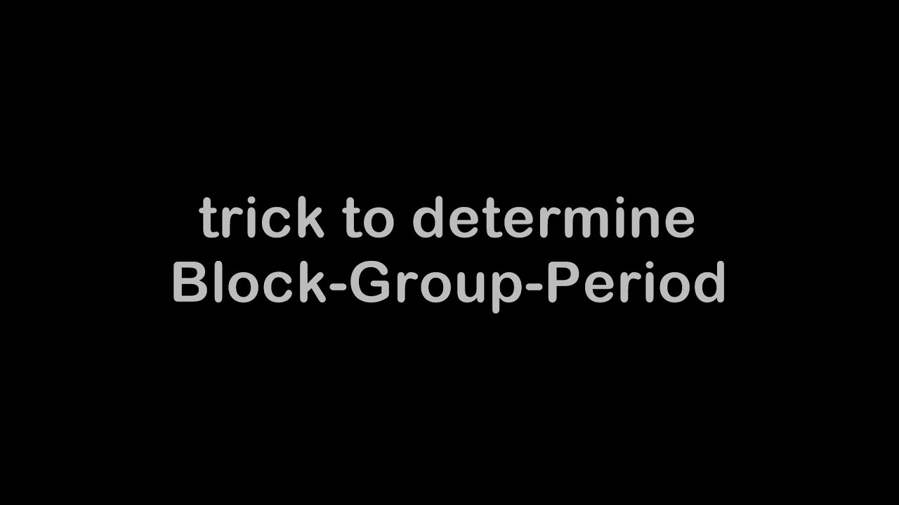 trick to determine blockgroupperiod bgp of an element