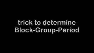 Trick to determine Block+Group+Period (BGP) of an Element