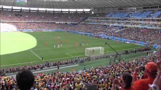 wk 2014 nederland vs mexico 2 1 doelpunten sneijder huntelaar vanaf oranje tribune