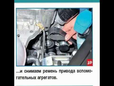 Проверка и замена ремня привода дополнительных агрегатов Polo Sedan,ремень генератора поло седан.