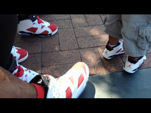 Four Of A Kind Jordan Retro 6's Family Wear On Feet Review ...
